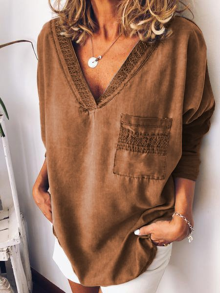 Women Vintage T-Shirt Tops Tunic