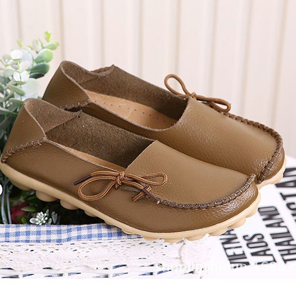 Bowknot Women's Slip-On Round Toe Loafers