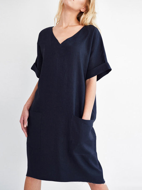 Shift Short Sleeve Dress