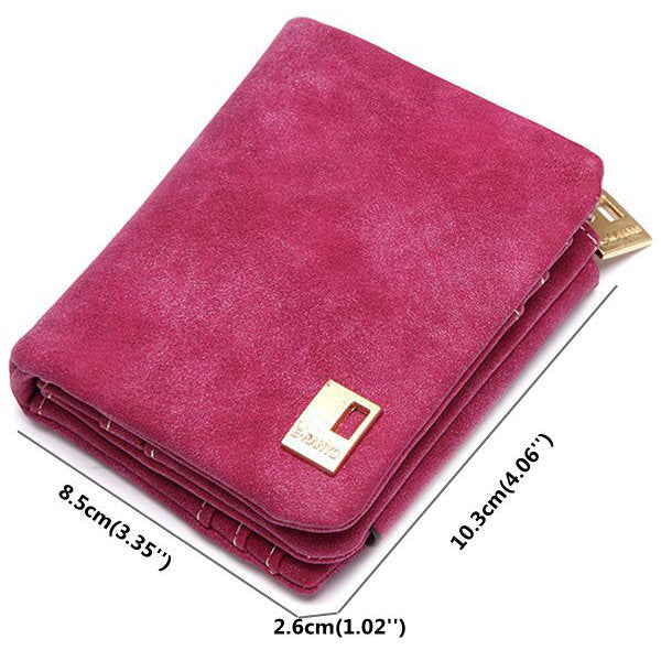Women Elegant Tri-folded Multi Card Holder PU Short Wallet Clutches Purse