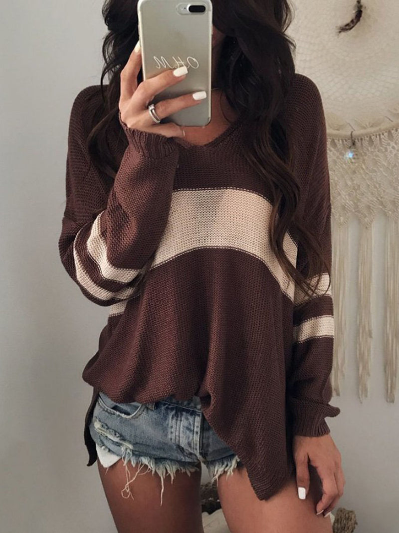 Casual Printed Knitwear