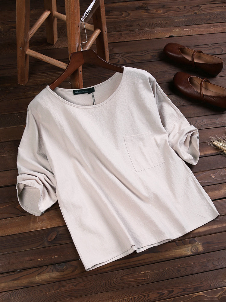 Simple & Basic Crew Neck Tops
