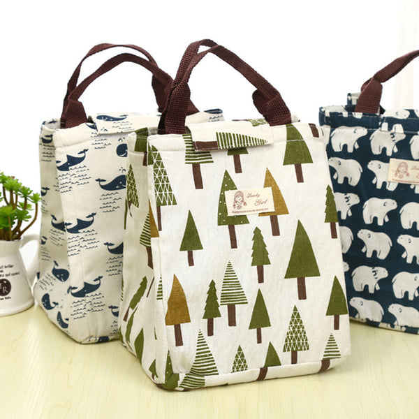 Cartoon Pattern Bag Cooler Bag Bento Picnic Pouch Lunch Container MAMA's bag