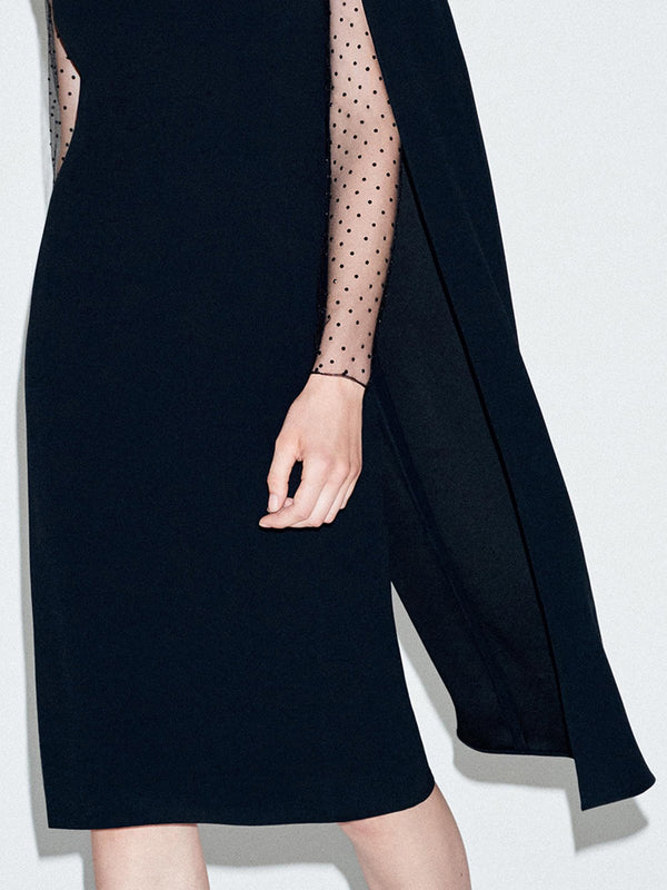 Elegant Sheath Paneled Midi Dress