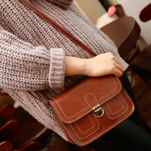 Women Vintage Little Phone PU Crossbody Mini Bags