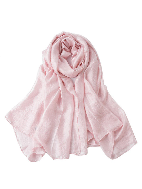 Watermelon Polyester Solid Casual Scarf