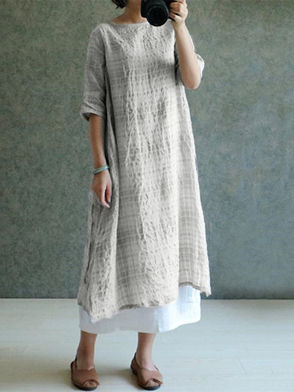 Shift Crew Neck Casual Dress