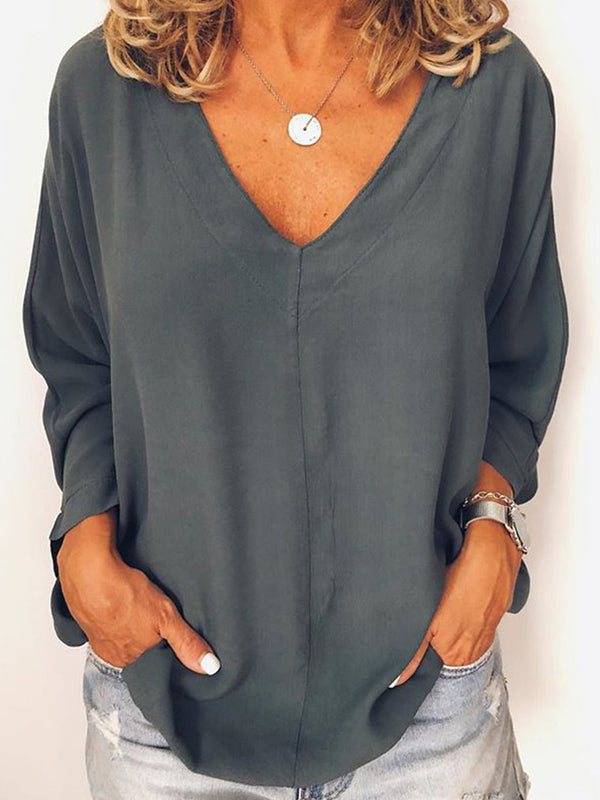 Simple & Basic Long Sleeve Shirts & Tops