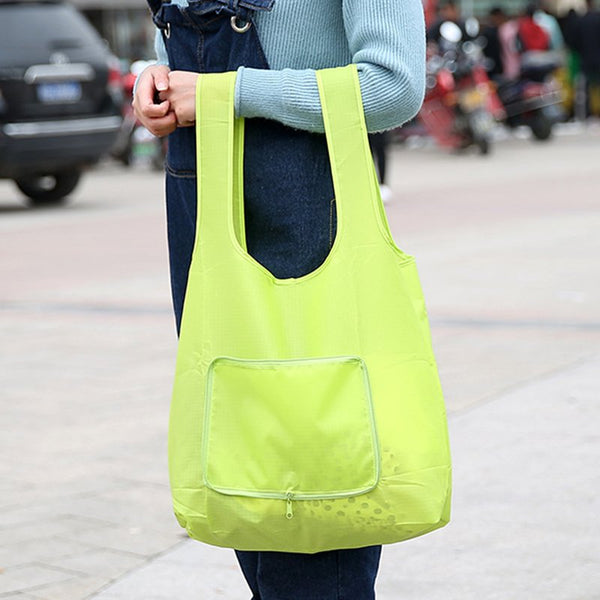 Foldable Tote Bag Grocery Grab Bag Waterproof Shooping Bag