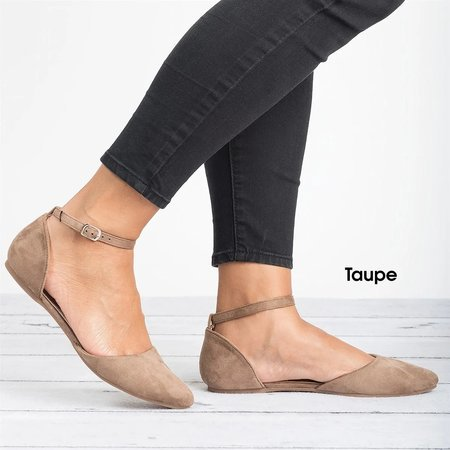 Comfy Pointed Toe Ankle Strap Flats