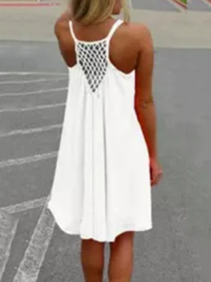 High Low Crocheted Basic Dress