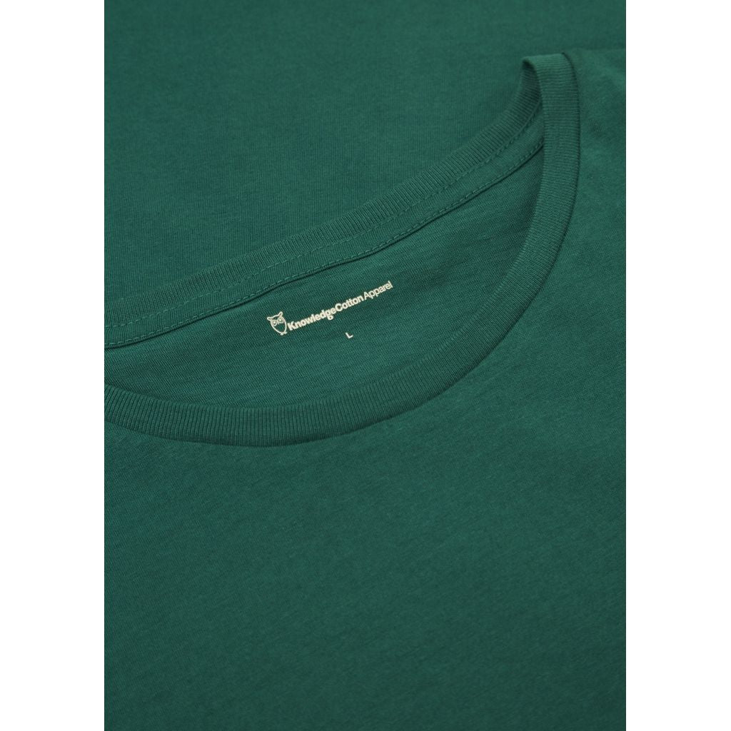 T-shirt vert en coton bio - Knowledge Cotton Apparel num 3