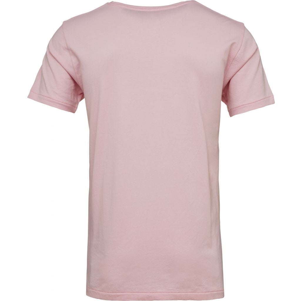 T-shirt rose en coton bio - Knowledge Cotton Apparel num 1