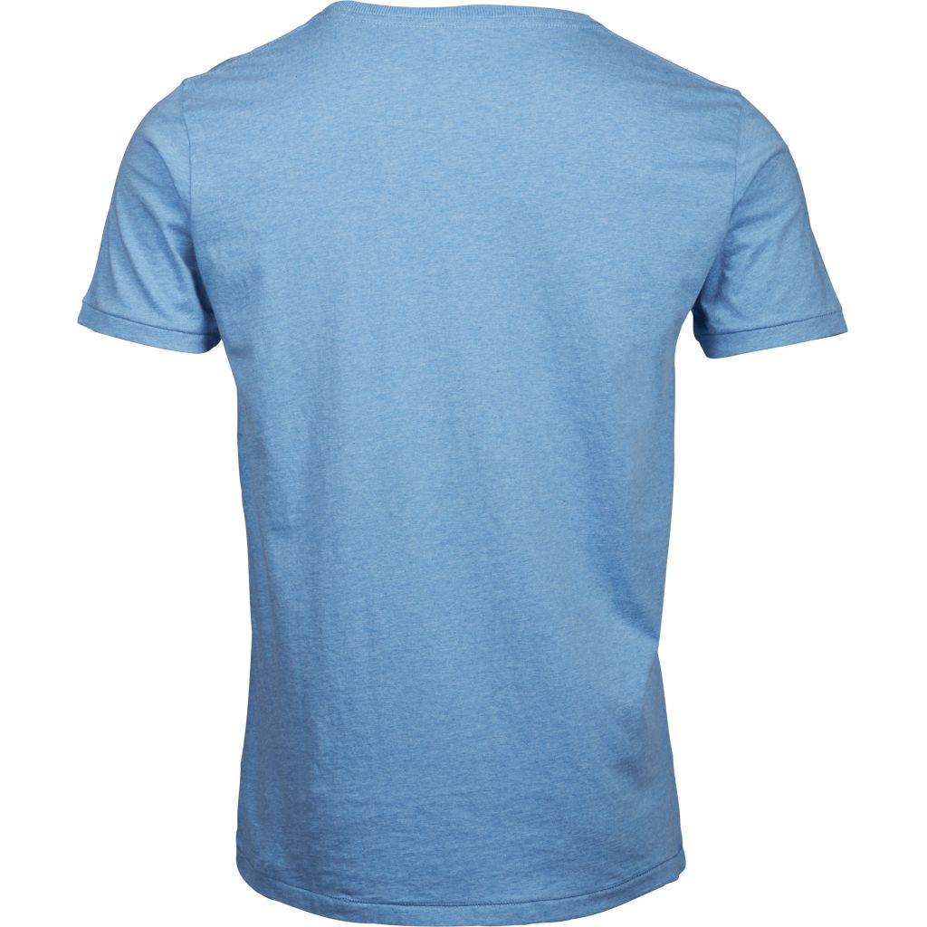 T-shirt bleu en coton bio - Knowledge Cotton Apparel num 3