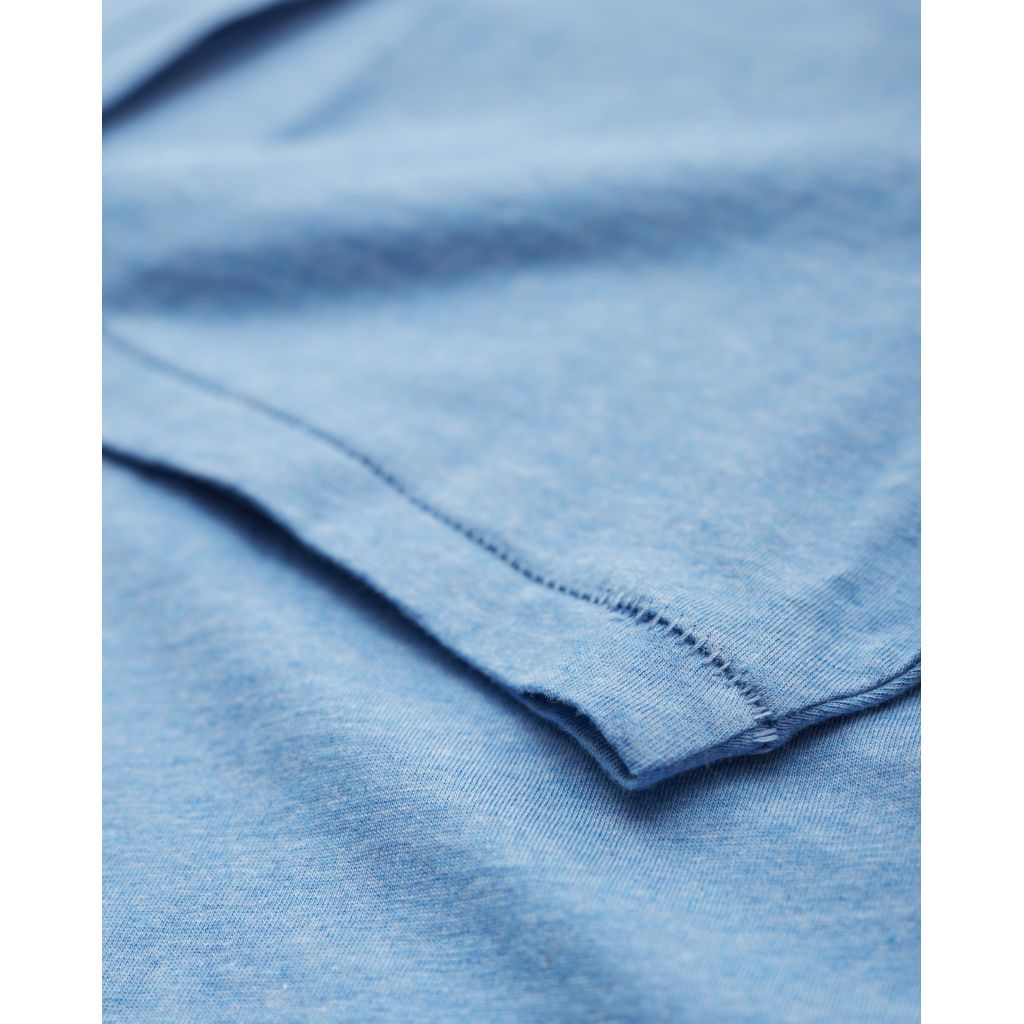 T-shirt bleu en coton bio - Knowledge Cotton Apparel num 2