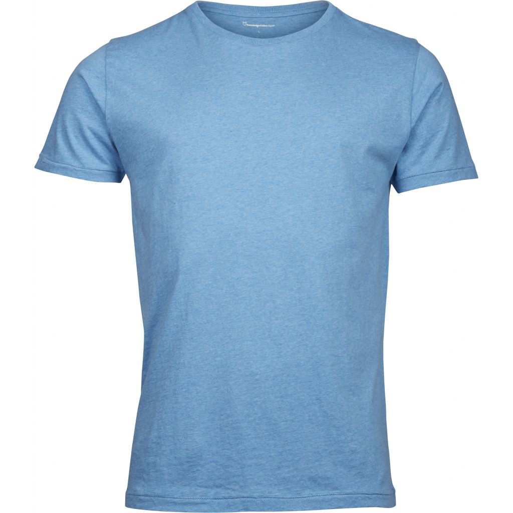 T-shirt bleu en coton bio - Knowledge Cotton Apparel num 0