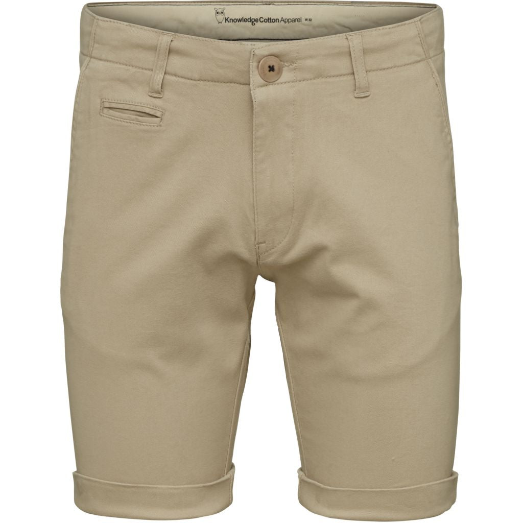 Knowledge Cotton Apparel - Short chino beige en coton bio