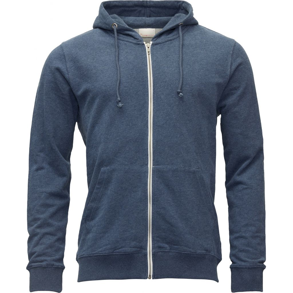 Veste zippée bleue en coton bio - Knowledge Cotton Apparel num 0