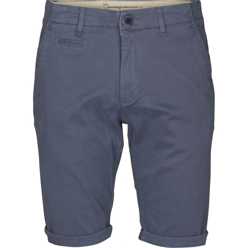 Knowledge Cotton Apparel - Short chino bleu en coton bio