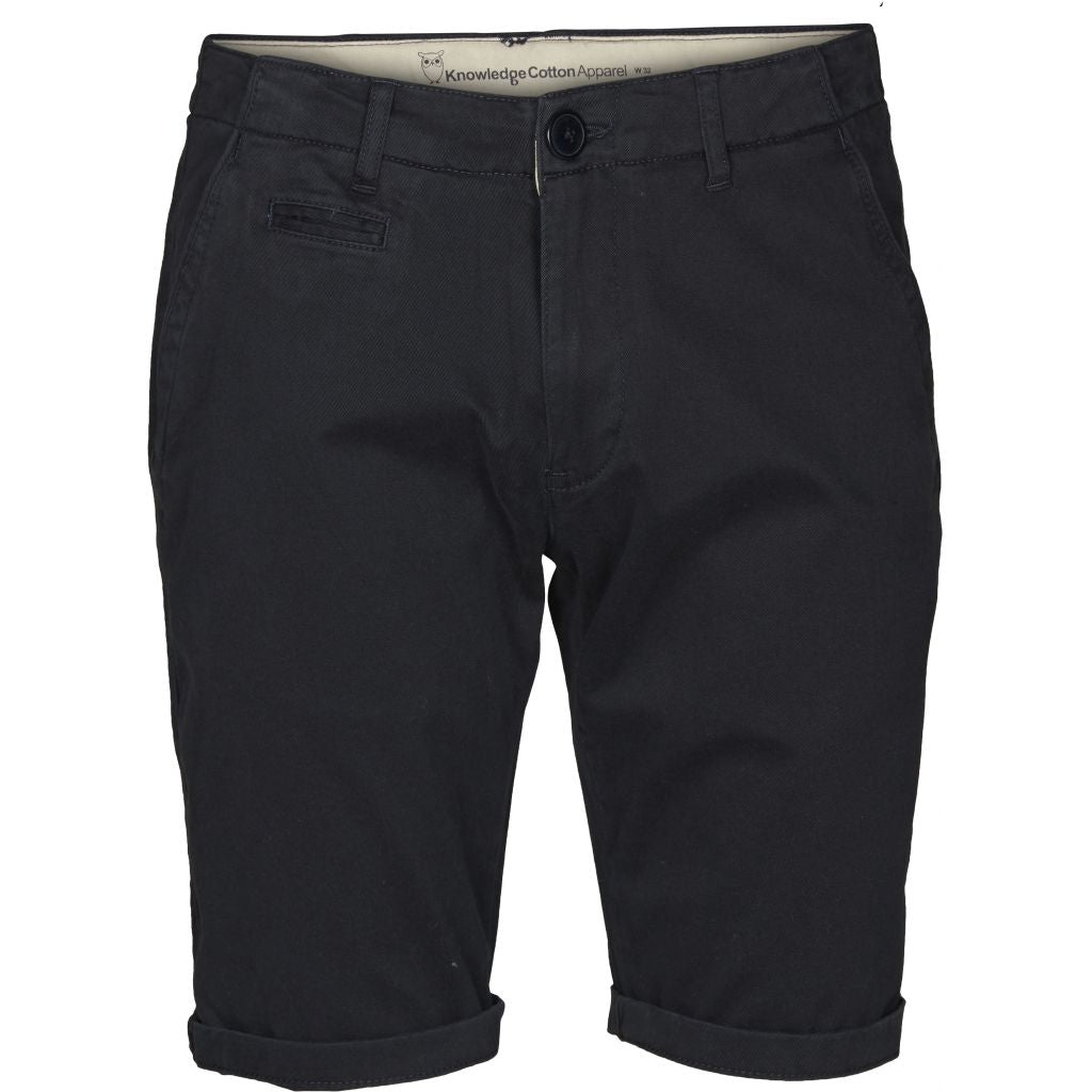 Knowledge Cotton Apparel - Short chino bleu marine foncé en coton bio