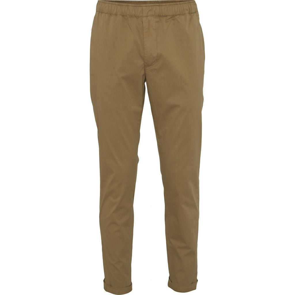 Pantalon beige foncé en coton bio - loose pant - Knowledge Cotton Apparel num 0