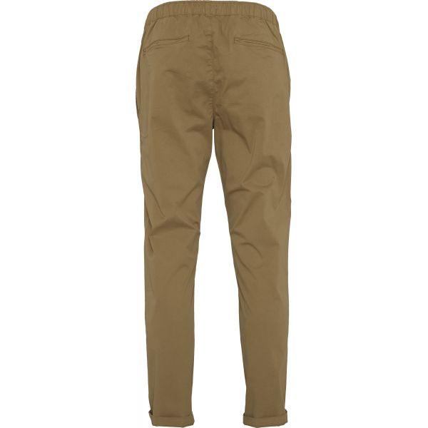 Pantalon beige foncé en coton bio - loose pant - Knowledge Cotton Apparel num 1