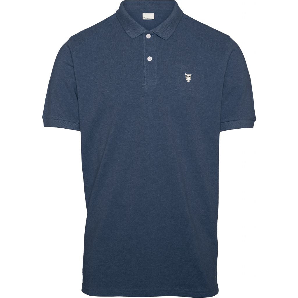 Polo bleu marine en coton bio - pique polo - Knowledge Cotton Apparel num 0