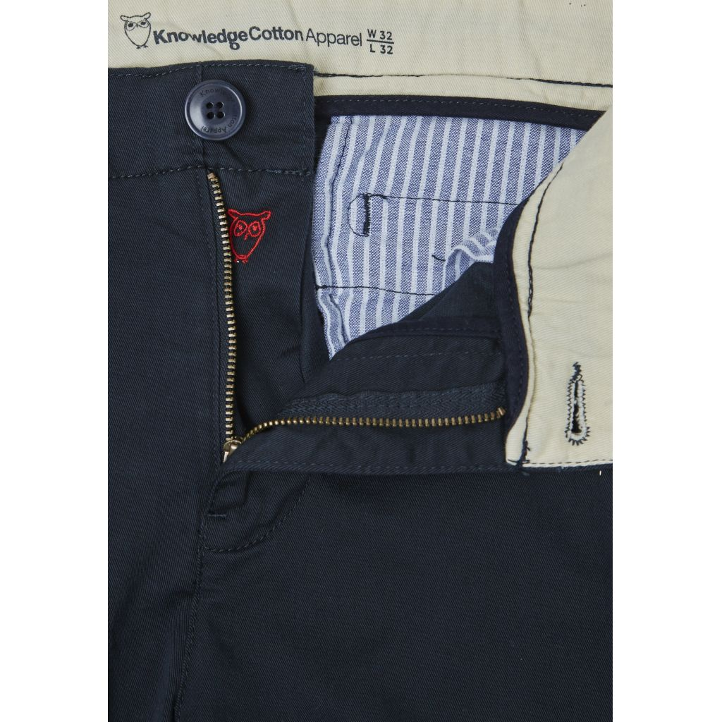 Pantalon chino marine en coton bio - Knowledge Cotton Apparel num 2