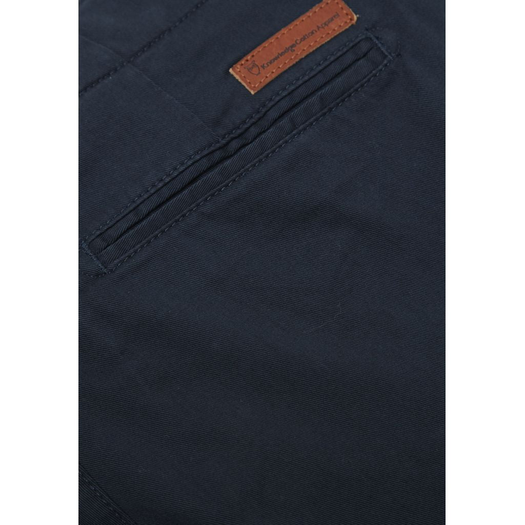 Pantalon chino marine en coton bio - Knowledge Cotton Apparel num 3