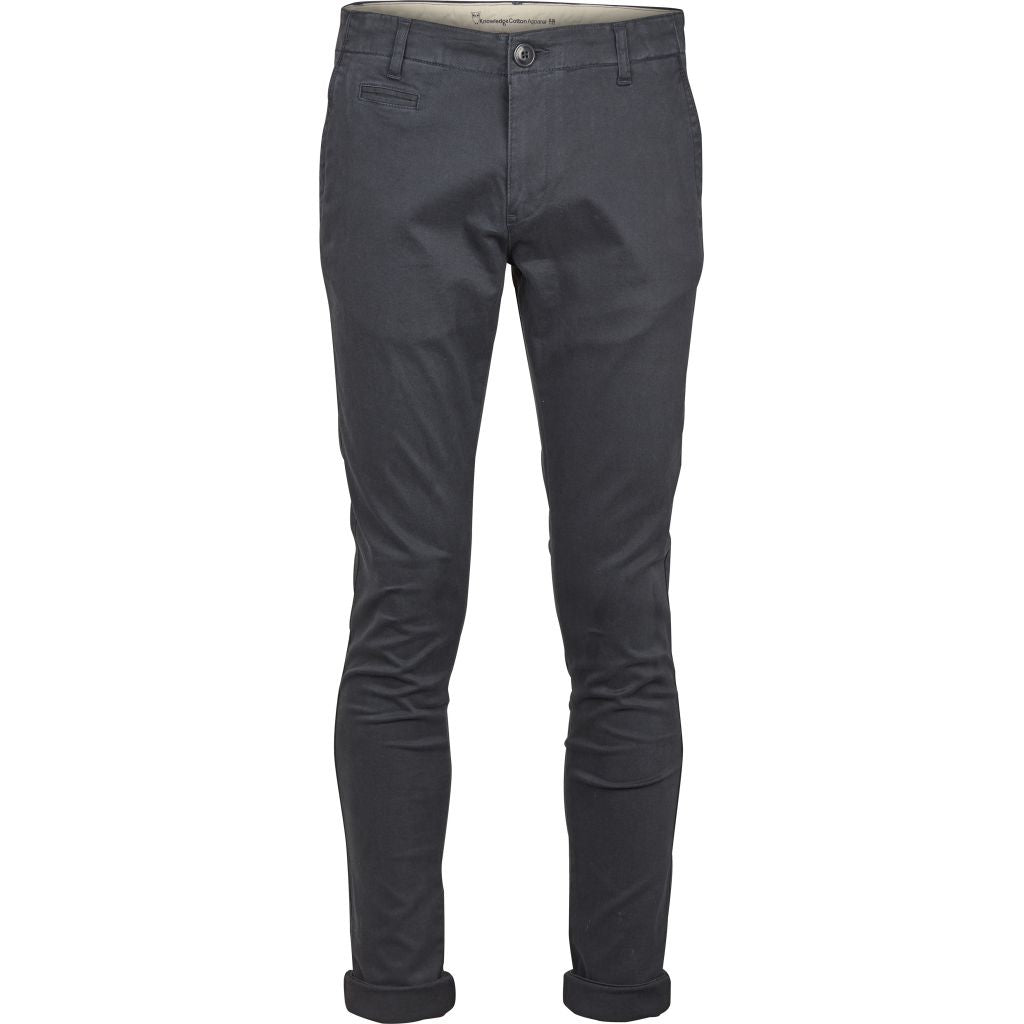Pantalon chino marine en coton bio - Knowledge Cotton Apparel num 1