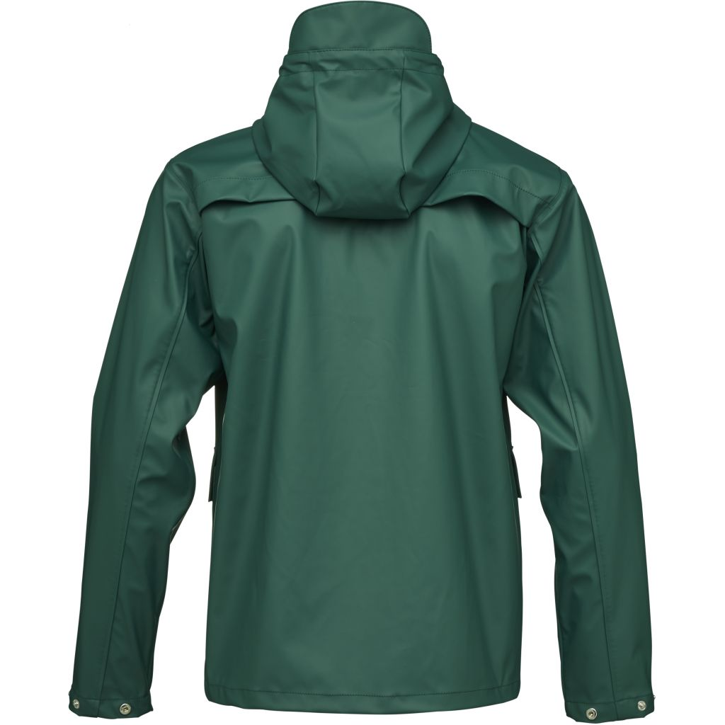 Imperméable vert en polyester recyclé et polyuréthane - Knowledge Cotton Apparel num 3