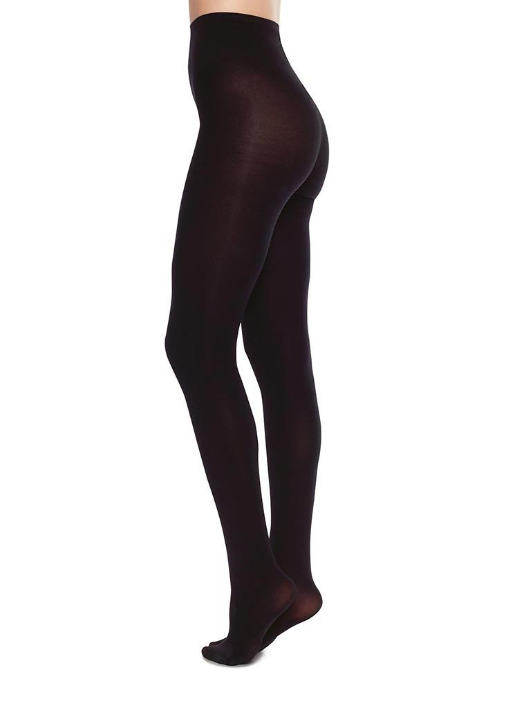 Swedish Stockings - Collants 100 deniers noirs recyclés - lia