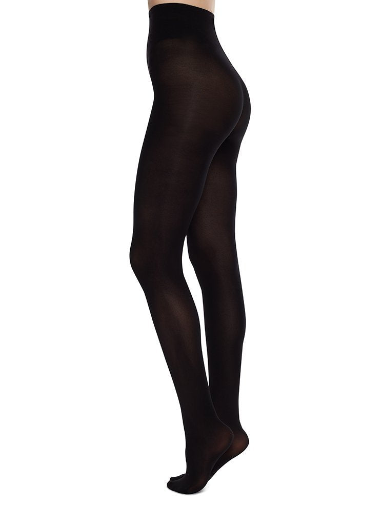 Swedish Stockings - Collants 60 deniers noirs recyclés - olivia
