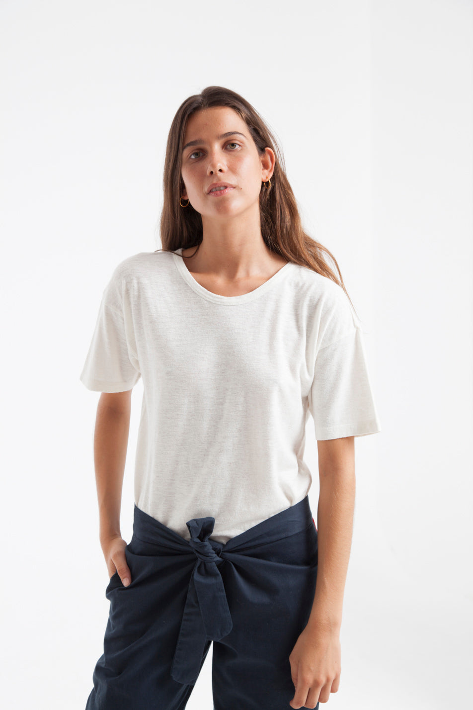 T-shirt en chanvre blanc - Thinking Mu num 3