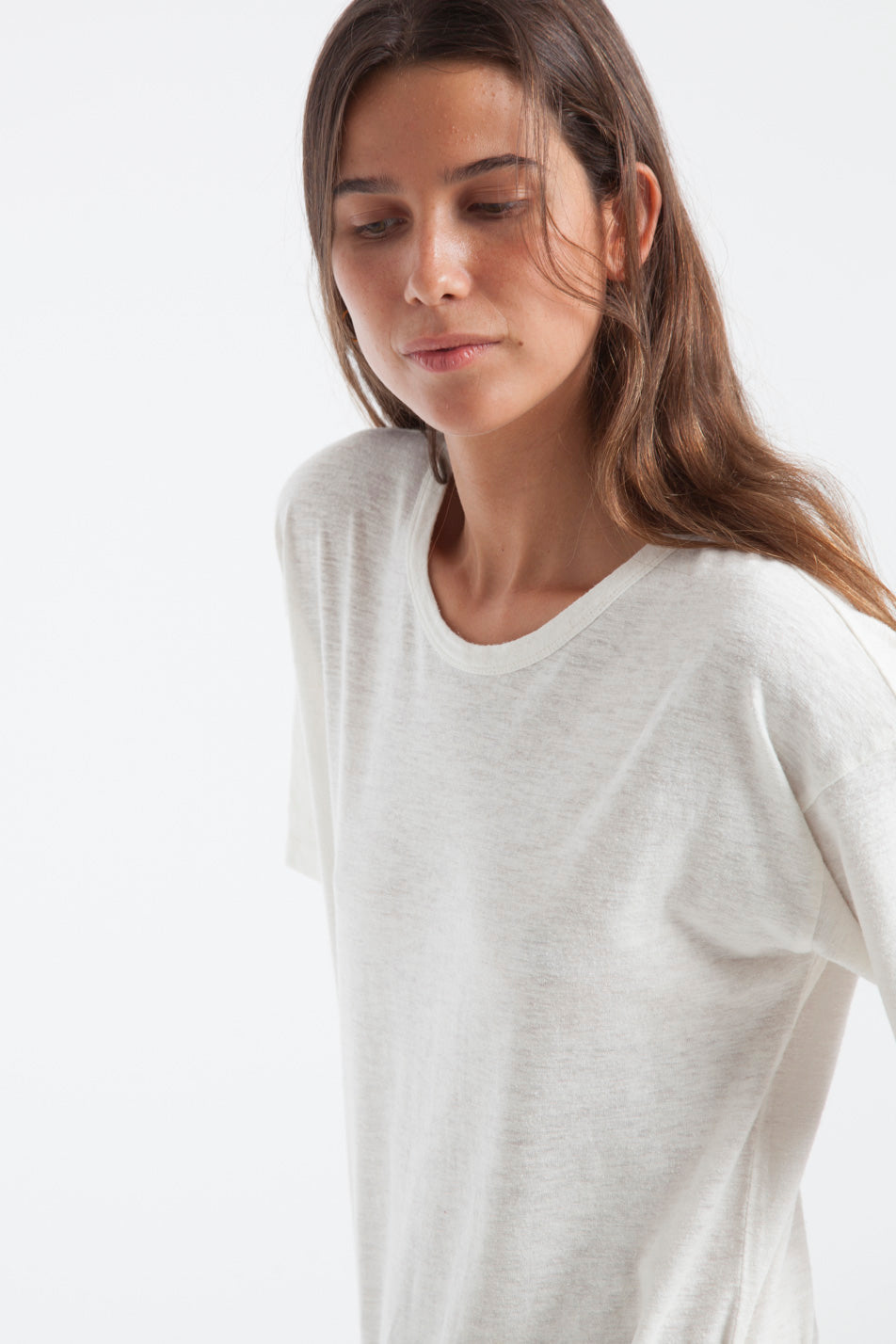 T-shirt en chanvre blanc - Thinking Mu num 4