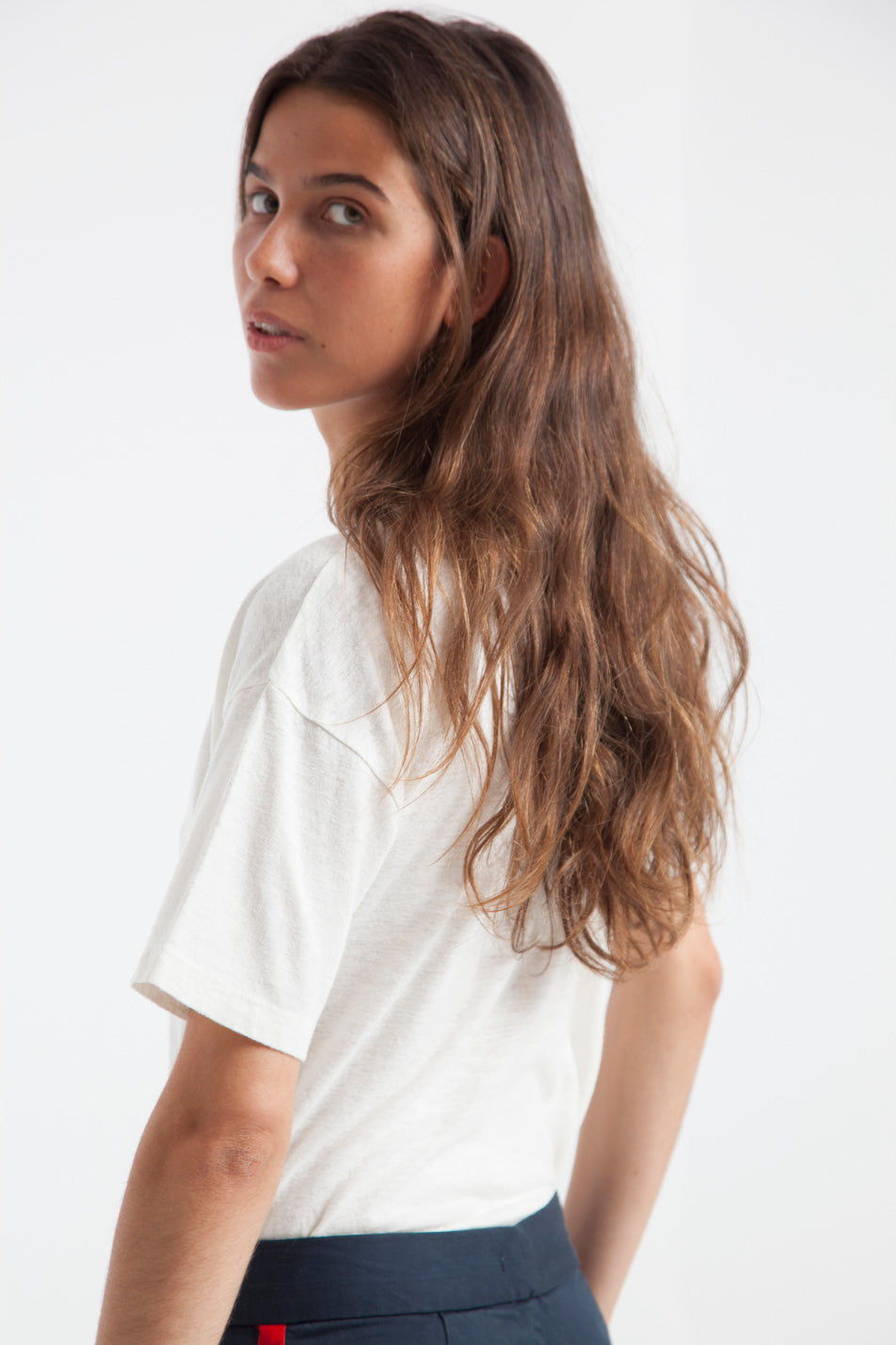 T-shirt en chanvre blanc - Thinking Mu num 5