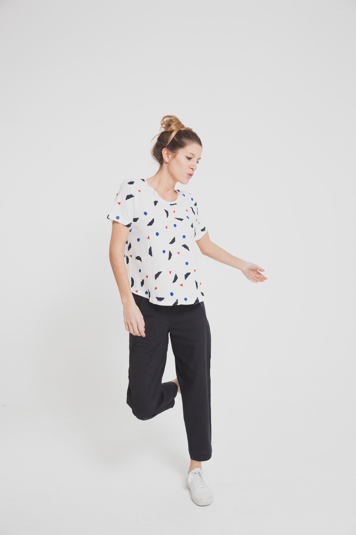 T-shirt loose en coton bio - Thinking Mu num 1