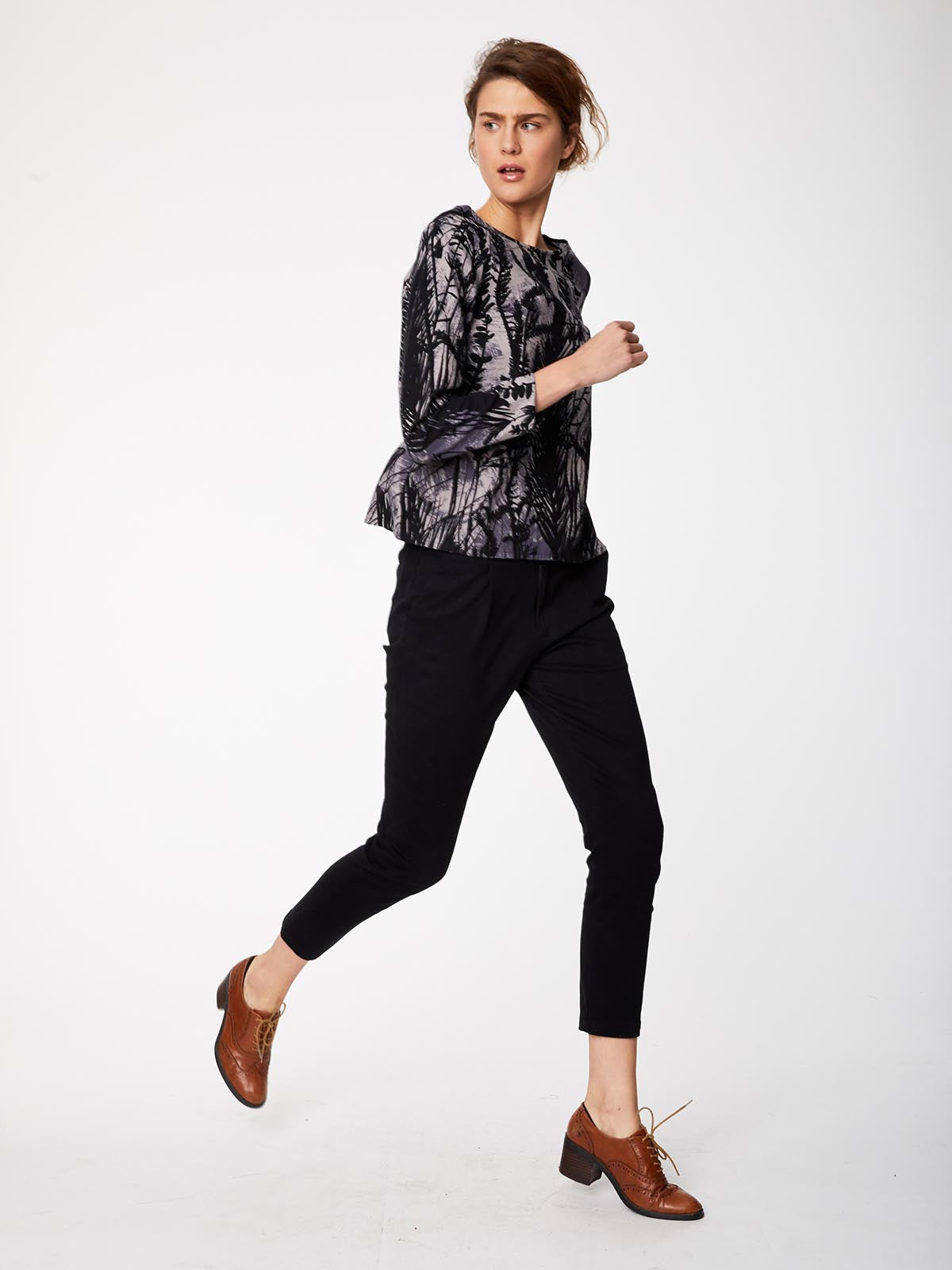 Thought - Pantalon noir en twill de coton biologique