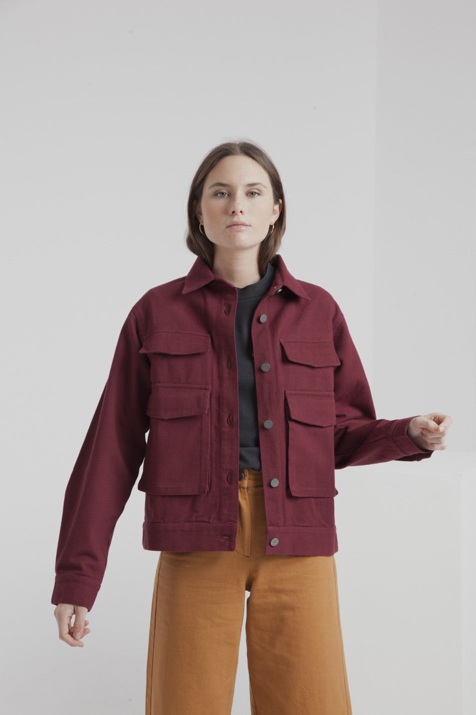 Thinking Mu - Veste bordeaux en coton bio - gypsy