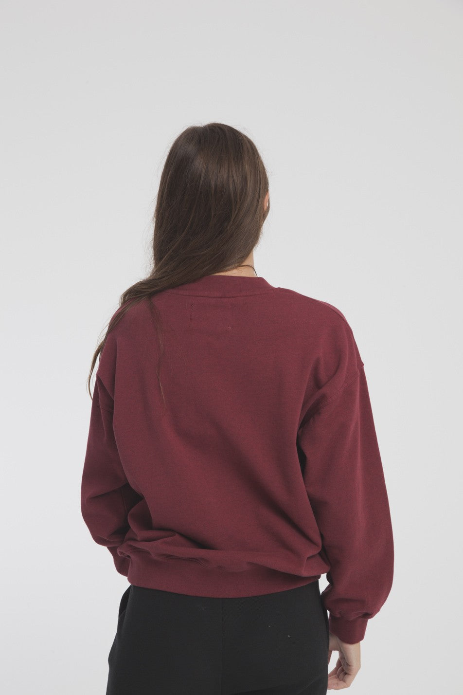 Sweat bordeaux en coton bio viva las vegans - Thinking Mu num 1