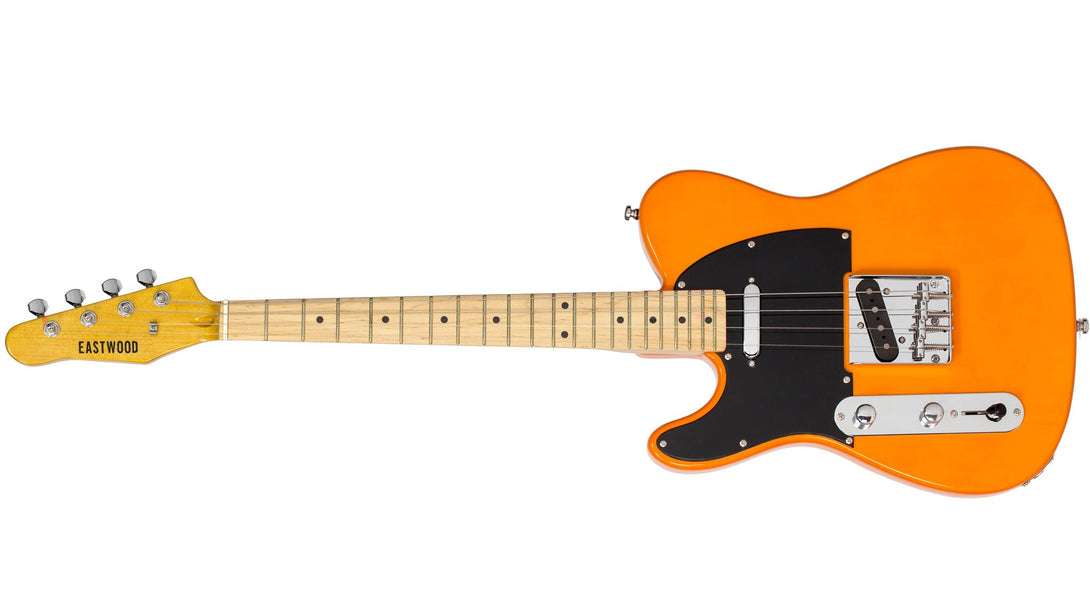 Eastwood Guitars Tenorcaster Butterscotch Blonde LH Angled