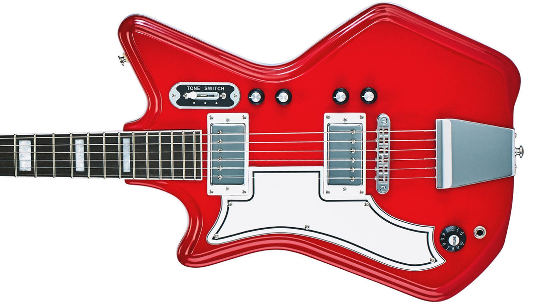 Eastwood Guitars Airline 592P Red LH Closeup