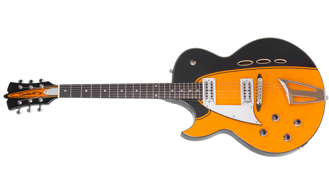 Eastwood Guitars Backlund Rockerbox II LH Orange Angled