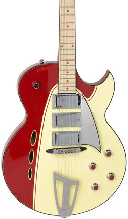 Eastwood Guitars Backlund Rockerbox Red/Creme Featured