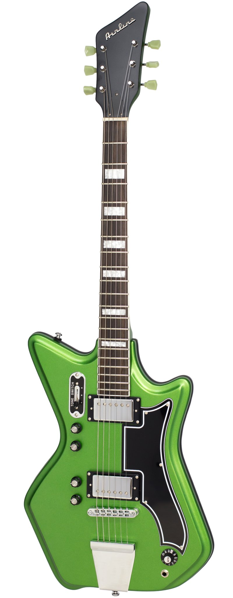 Eastwood Guitars Airline 592P Satin Candy Green Full Front