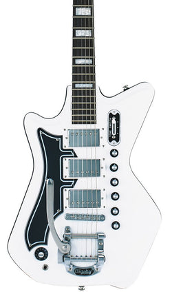 Eastwood Guitars Airline 593P DLX White LH Featured