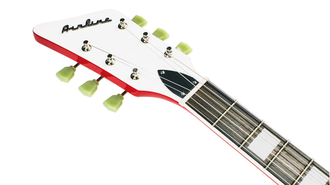 Eastwood Guitars Airline 592P Red LH Headstock