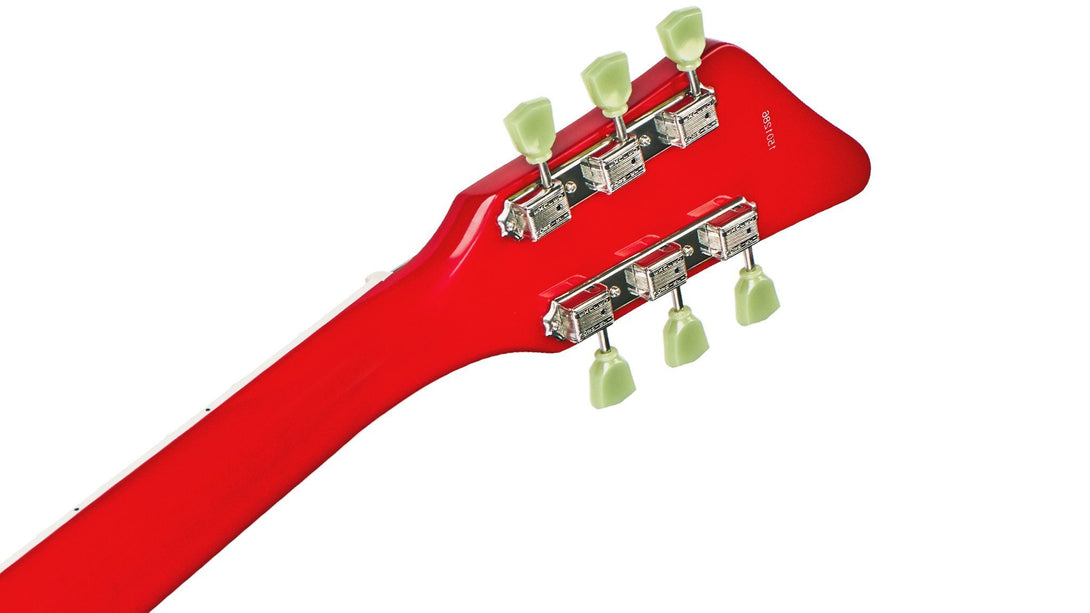 Eastwood Guitars Airline 592P Red LH Head Back