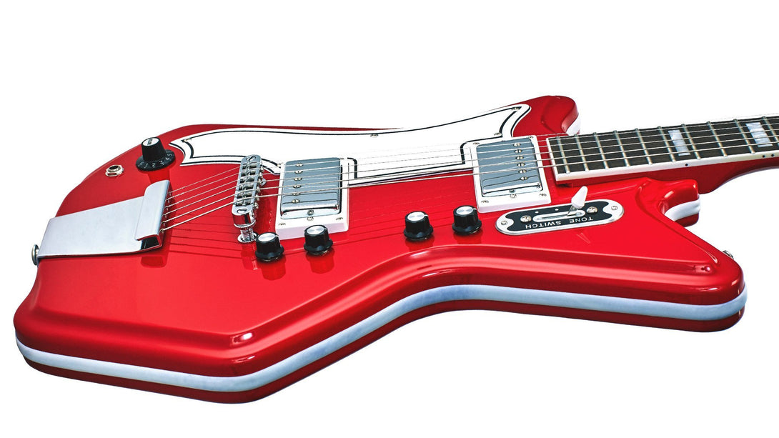Eastwood Guitars Airline 592P Red LH Player POV