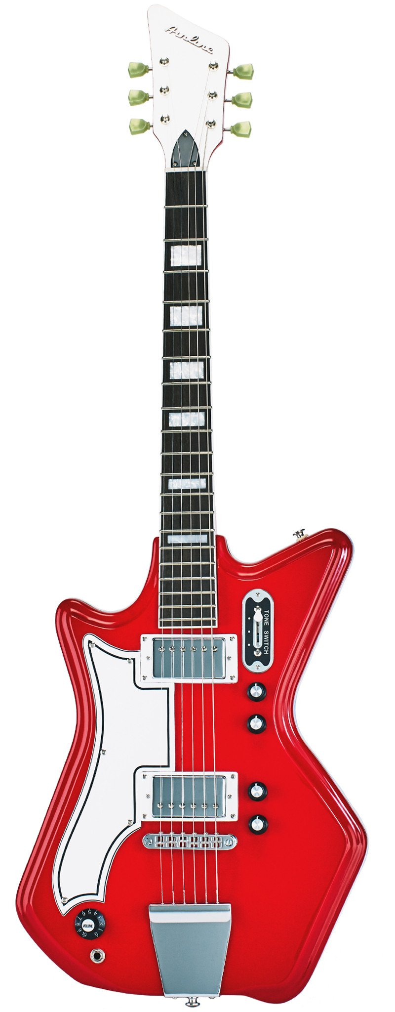 Eastwood Guitars Airline 592P Red Left Hand Full Front